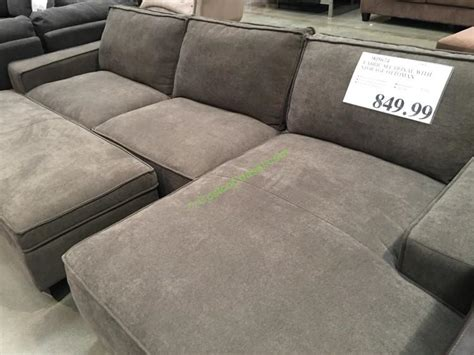 chaise sofa with storage ottoman fabric sectional with storage ottoman costcochaser