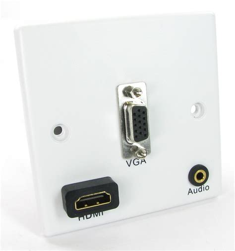Plate Vga Stereo buy vga hdmi audio wall plate white connect nx wp 071q