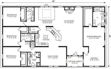 universal design floor plans 4 bedrooms 4 bathroom universal design house plans small