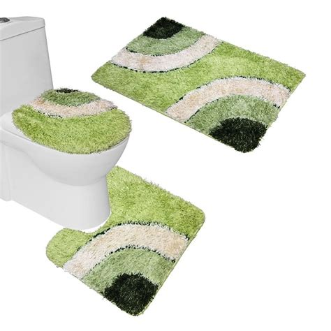 bathroom rugs set 3 piece green bathroom rug sets rugs ideas