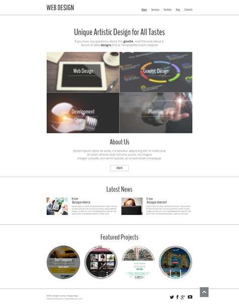 free sle templates for website design free website template for design portfolio free