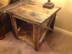 How To Make A Rustic Table by White Rustic X End Table Diy Projects