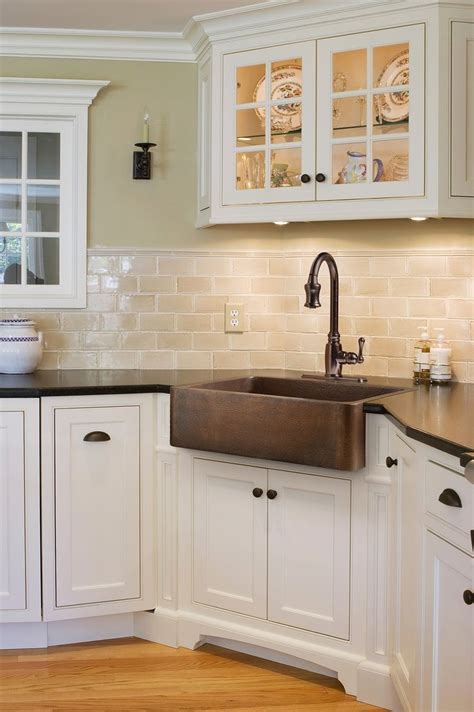 farm sink kitchen cabinet corner farmhouse sink at s kitchen pinterest copper