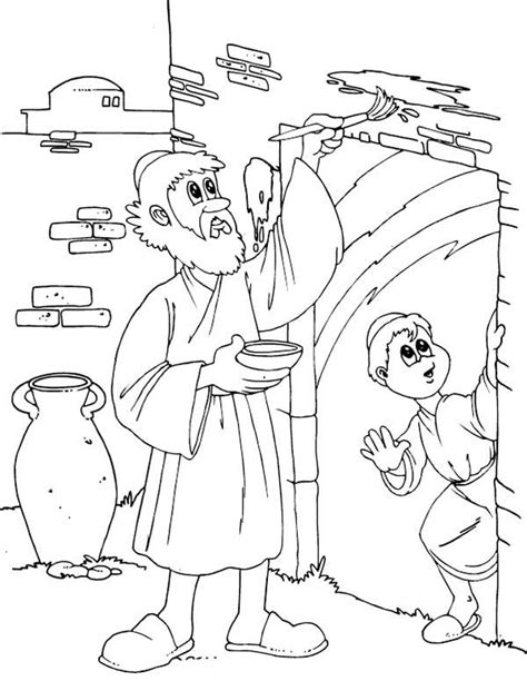 coloring pages passover print children of israel do the gods command to their door