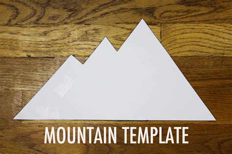 How To Make A Mountain Out Of Paper - nest ep 38 modern mountain decals