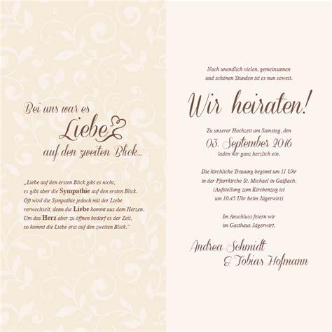 Hochzeitseinladung Einfach by Hochzeitseinladung Bl 252 He Oh