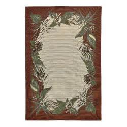 Palm Tree Rugs Palm Floral Indoor Outdoor Rug Christmas Tree Shops Andthat