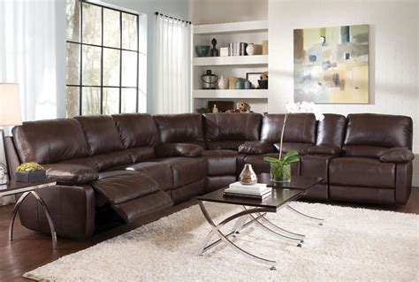 leather sectional sofas with recliners plushemisphere elegant collections of leather sectional