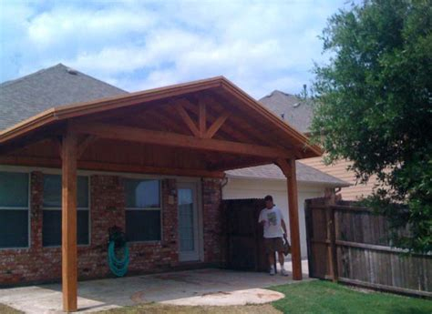 simple patio cover provides backyard shade hundt patio