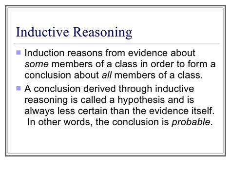 induction word definition introduction to inductive and deductive reasoning