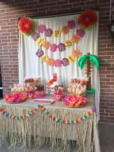 hawaiian themed decorations luau hawaiian birthday ideas cumplea 241 os