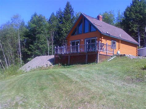 Maine Log Cabins For Sale by Island Falls Maine Vacation Real Estate For Sale Island Falls Log Cabin Overlooking