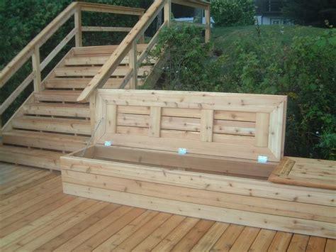 deck bench  storage deck storage bench deck storage