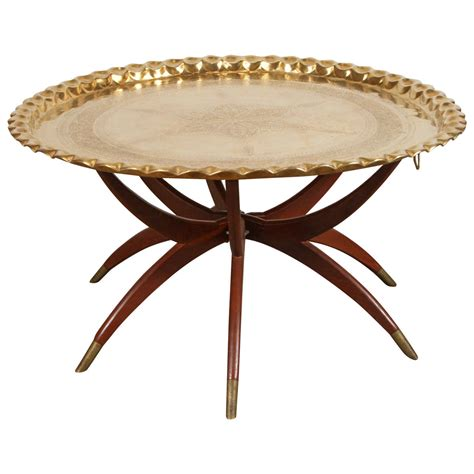 table stands large brass tray table on spider folding stand
