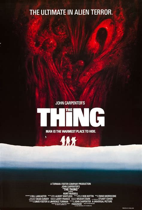 the thing 1982 imdb poster for the thing 1982 usa wrong side of the art