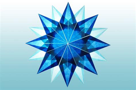 Basteln Sternen by Blauer 16 Zacken Sterne Aus Transparentpapier