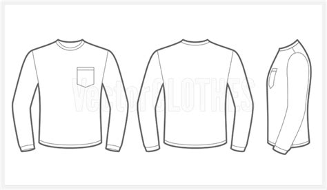 long sleeve t shirt template vector quotes
