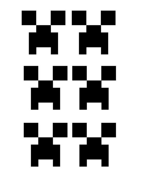 creeper face template printable minecraft party