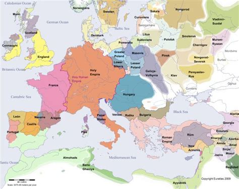 map world powers in 12 century map of 12th century europe sca lovelies