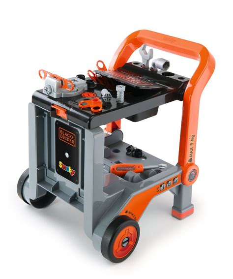 black and decker kids work bench black decker kids devil workmate 3 in 1 childrens workbench toy tool trolley ebay