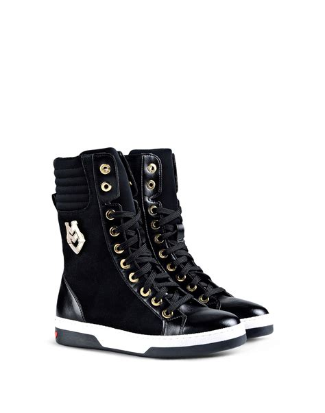 moschino shoes for moschino high top sneaker in black lyst