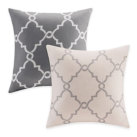 bed bath and beyond saratoga madison park saratoga fretwork square throw pillow bed