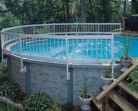 pool backyard ideas with above ground pools fence outdoor above ground pool privacy ideas bing images