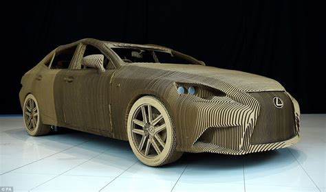 lexus creates working size vehicle made of cardboard