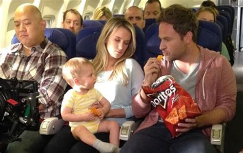 doritos commercial actress airplane a baby and a flying pig take out doritos crash the super