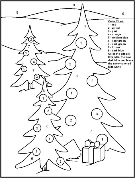 christmas color by numbers coloring pages az coloring pages