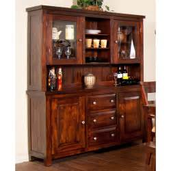 wooden hutch buffet vineyard wood china buffet hutch in rustic mahogany by