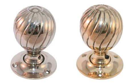 Brass Interior Door Knobs by Interior Spiral Door Knob In Brass And Polished Nickel