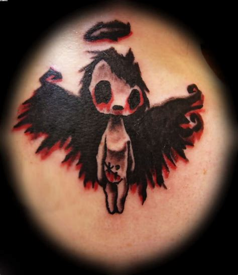 angel devil tattoo amazing tattooshunter
