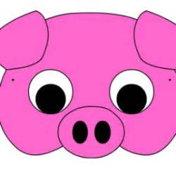 pig mask template pig mask coloring page drawing and coloring pages