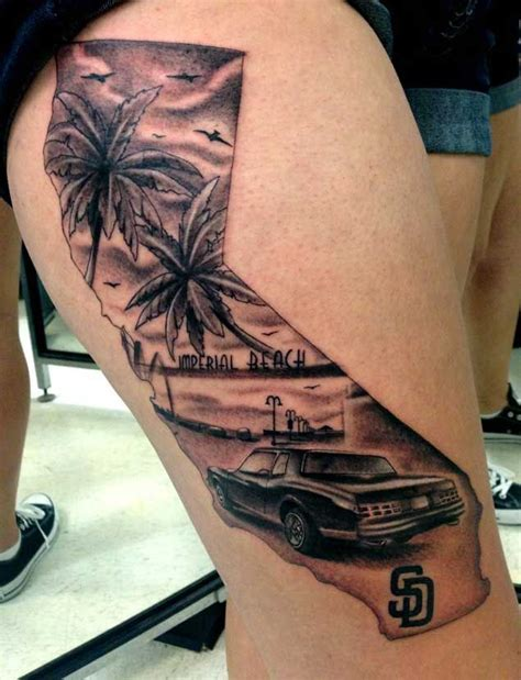 california outline tattoo designs 40 breathtaking state of california tattoos