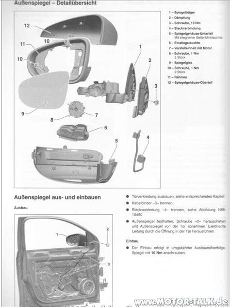Motorrad Spiegel Wechseln Anleitung by Spiegel Au 223 Enspiegel Wechseln Vw Golf 6 203599636