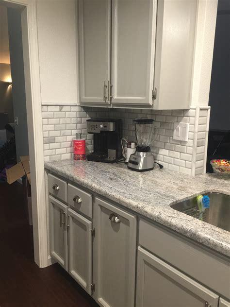 backsplash for gray cabinets monte cristo granite marble backsplash tiles and grey