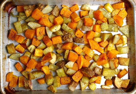 baked root vegetables roasted winter root vegetables recipe dishmaps
