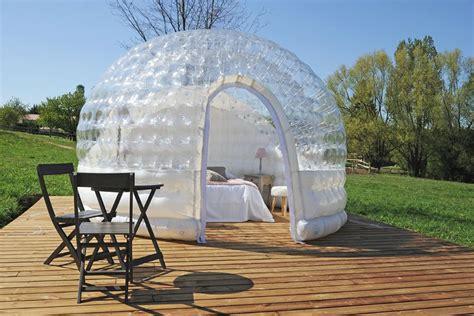 bulle chambre chambre bulle une nuit insolite en is 232 re domaine de suzel