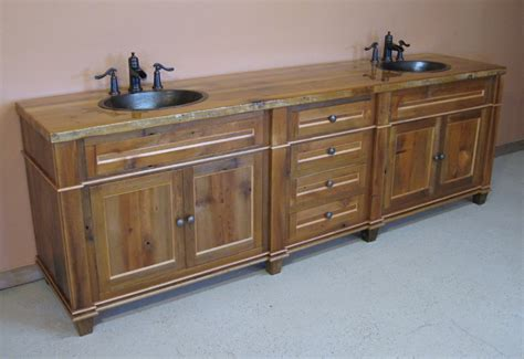 reclaimed barn wood bathroom vanity traditional