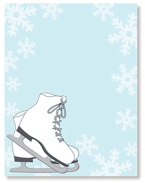 free template invitation card snowflakes invitation cards skating invitations