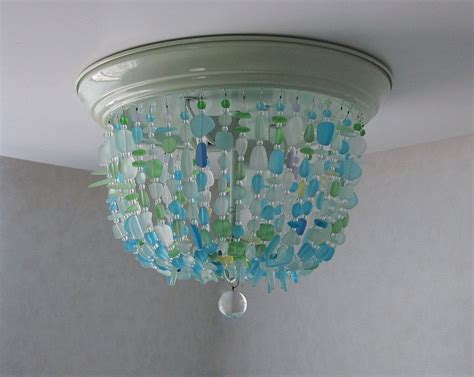 sea glass pendant light sea glass light fixture sea glass chandelier lighting