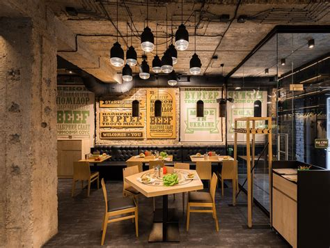 interiors cuisine burger by sergey makhno architects archiscene