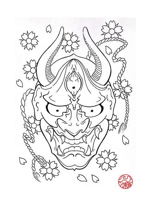 Hannya Mask Tattoo Outline   hannya mask 3 by laranj4 on deviantart
