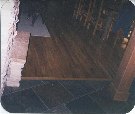 kendall s custom wood floors and steps inc red oak and slate tile combination photos