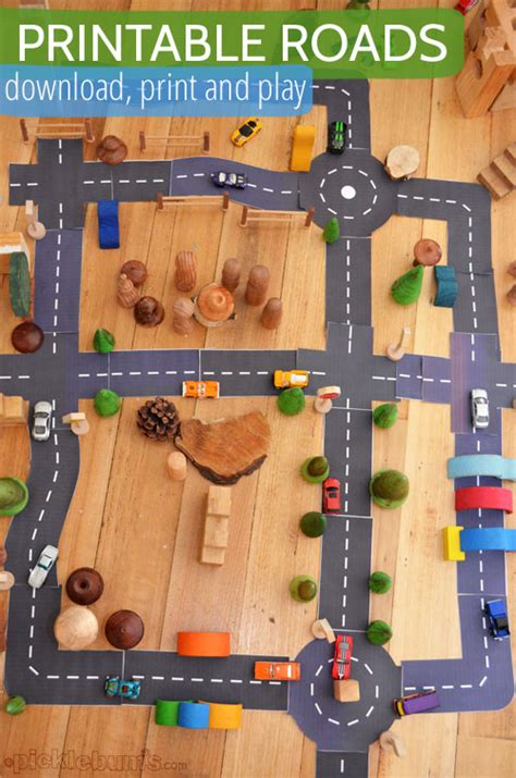 printable paper roads printable roads for awesome imaginative play picklebums