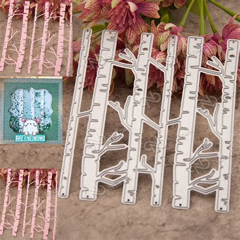 Dies For Paper Crafting - birch trees metal cutting dies stencil scrapbooking cards
