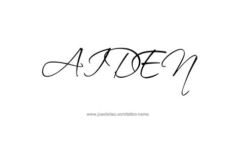 aiden name tattoo designs