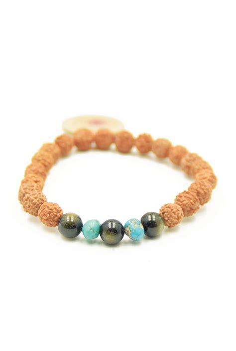 mala for healing healing mala bracelet of rudraksha obsidian turqouise