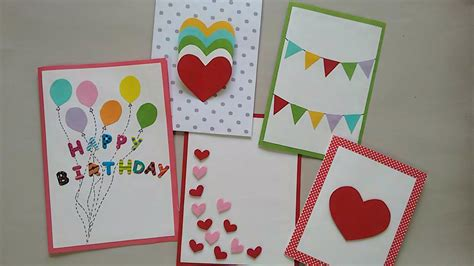 how to make a easy card 5 easy greeting cards srushti patil